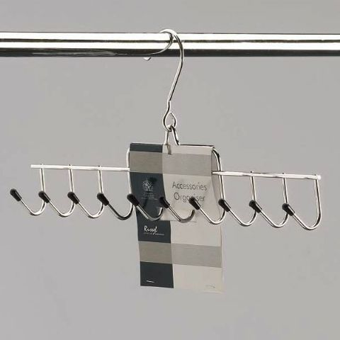 Metro Hanging Belt & Accessories Organiser Rack Non Slip Ends